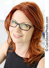 Red-haired beauty - Close-up shot of a wonderful red-haired ...