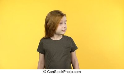 Red-haired child was surprised at what she saw - The...