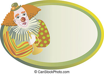 red-haired clown vector