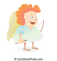 Red-haired funny angel