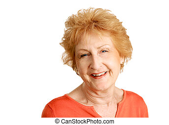 Red Haired Senior - Happy - A friendly, happy red haired ...