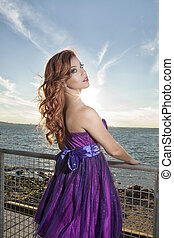 red-haired - Portrait of a beautiful red-haired young woman...