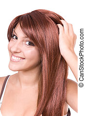 red haired woman - attractive young woman with red hair