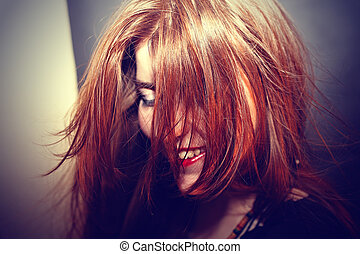 Red-haired young girl