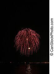 red hairy ball fireworks