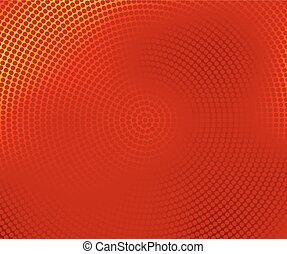 red halftone banner