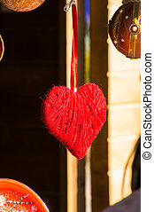 Red handmade heart