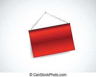 red hanging banner illustration design