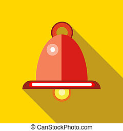 Red hanging lamp icon, flat style