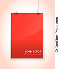 red hanging paper