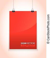 hanging paper - red hanging paper