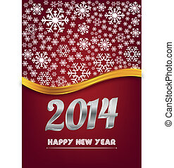 Red happy new year card.