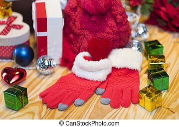 Red hat and socks for Christmas gift