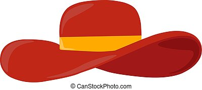 Red hat, illustration, vector on white background.