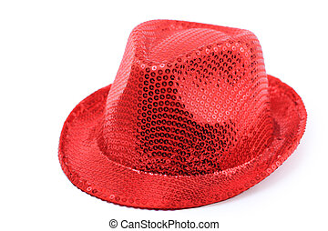Red hat isolated on white backgrou