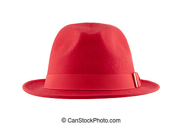 Red hat isolated on white background