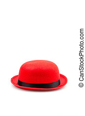Red hat isolated white background