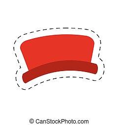 red hat snowman cut line vector illustraiton eps 10
