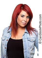 Red Head Woman Portrait