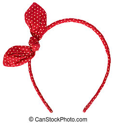red headband isolated on white background