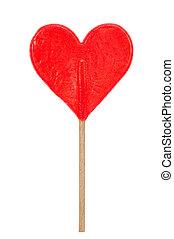 red hear shaped lollipop - red heart shaped lollipop...