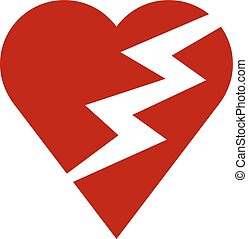 Red heart and lightning