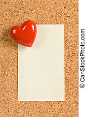 Red Heart and Note Pad, love message