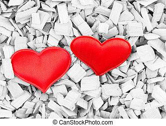 red heart background sepia grunge card background base contrast love symbol on light background wooden sliver
