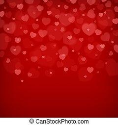 Red heart background. Vector illustration.