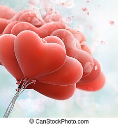 Red heart balloons. EPS 10