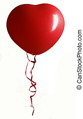 red heart baloon