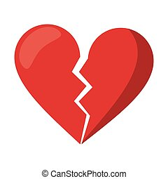 red heart broken sad separation