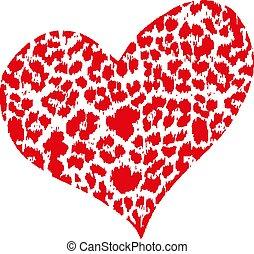 red heart design icon Vector illustration