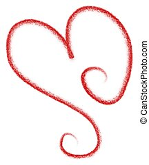 Red Heart Doodle Clip Art