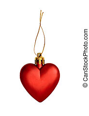 Red heart for Christmas decoration