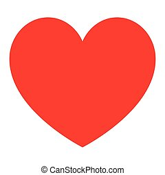 Red heart for womens day.