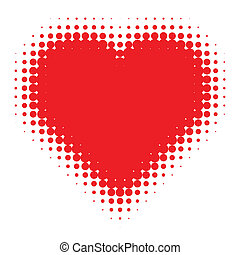 Red Heart Halftone
