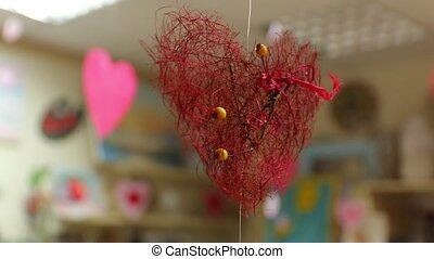 Workshop for children Red heart with branches and berries