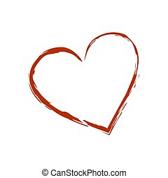 Red heart icon isolated on white background. Vector illustration