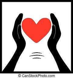 Red heart in hands1
