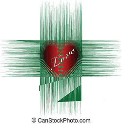 red heart in junction of two soul
