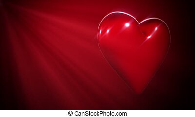 Red Heart In Sparkle Shine