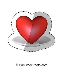 red heart inside the plate icon