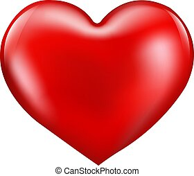 Red Heart Isolated Cardboard Background