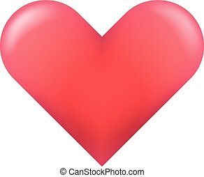 Red heart isolated on white background. Vector illustration