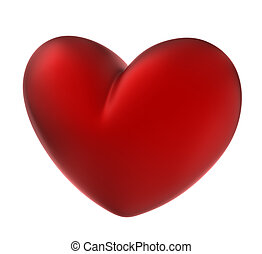 Red heart . Isolated on white