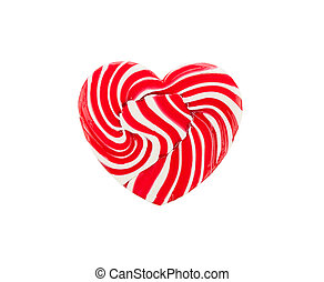 Red heart lollipop