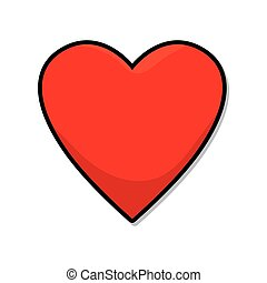 red heart love romatic passion decoration symbol vector...