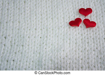 red heart on background