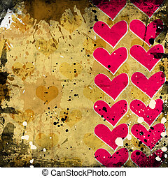 red heart on grunge background